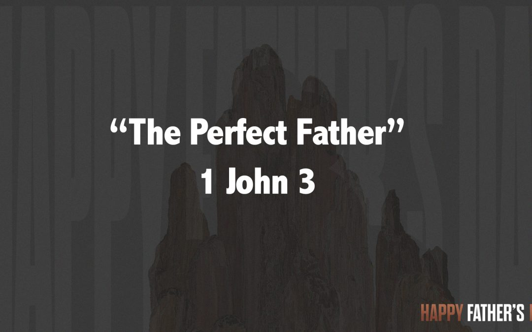 """""""THE PERFECT FATHER""""  1 John"""